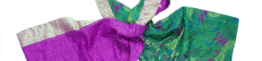 Silk scarf kantha joy