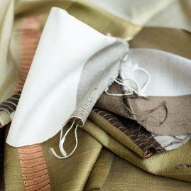 Zijden sjaal chorebab olijf
