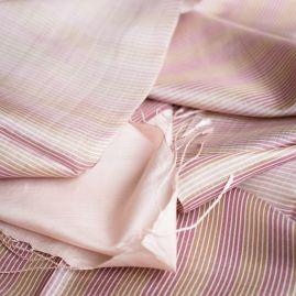 Silk scarf pou pom