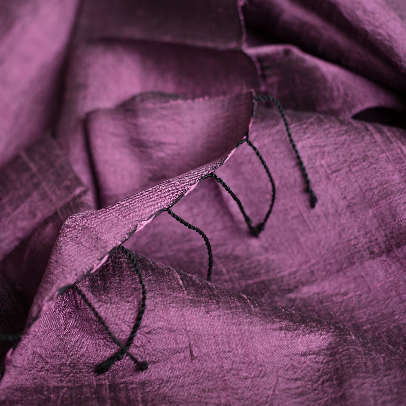 Silk scarf pillow purple