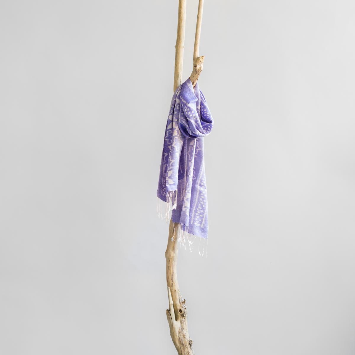 Silk scarf ikat lilac
