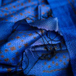Silk scarf brown ikat