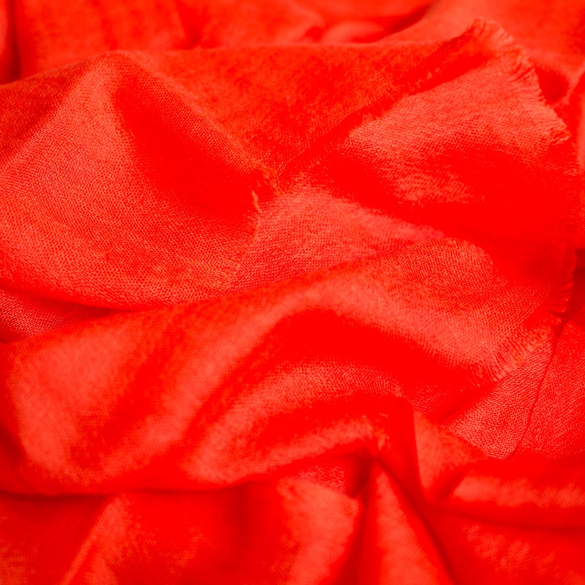 Cashmere sjaal burnt orange