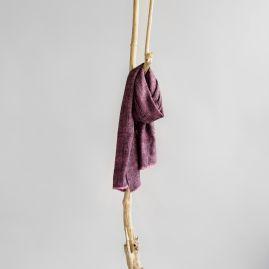 Yak shawl pink and black