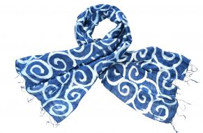Silk scarf blue moon
