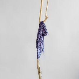 Silk scarf purple circle