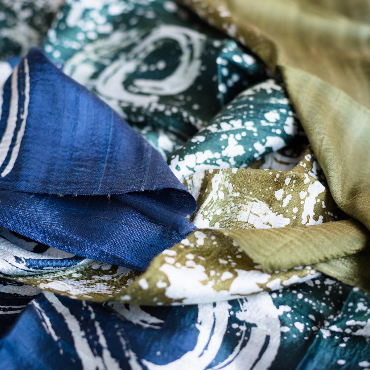 Silk scarf forest