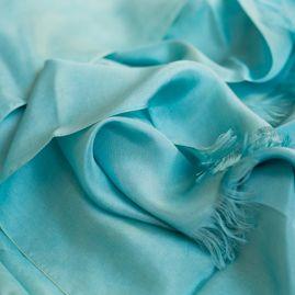 Silk scarf ocean green
