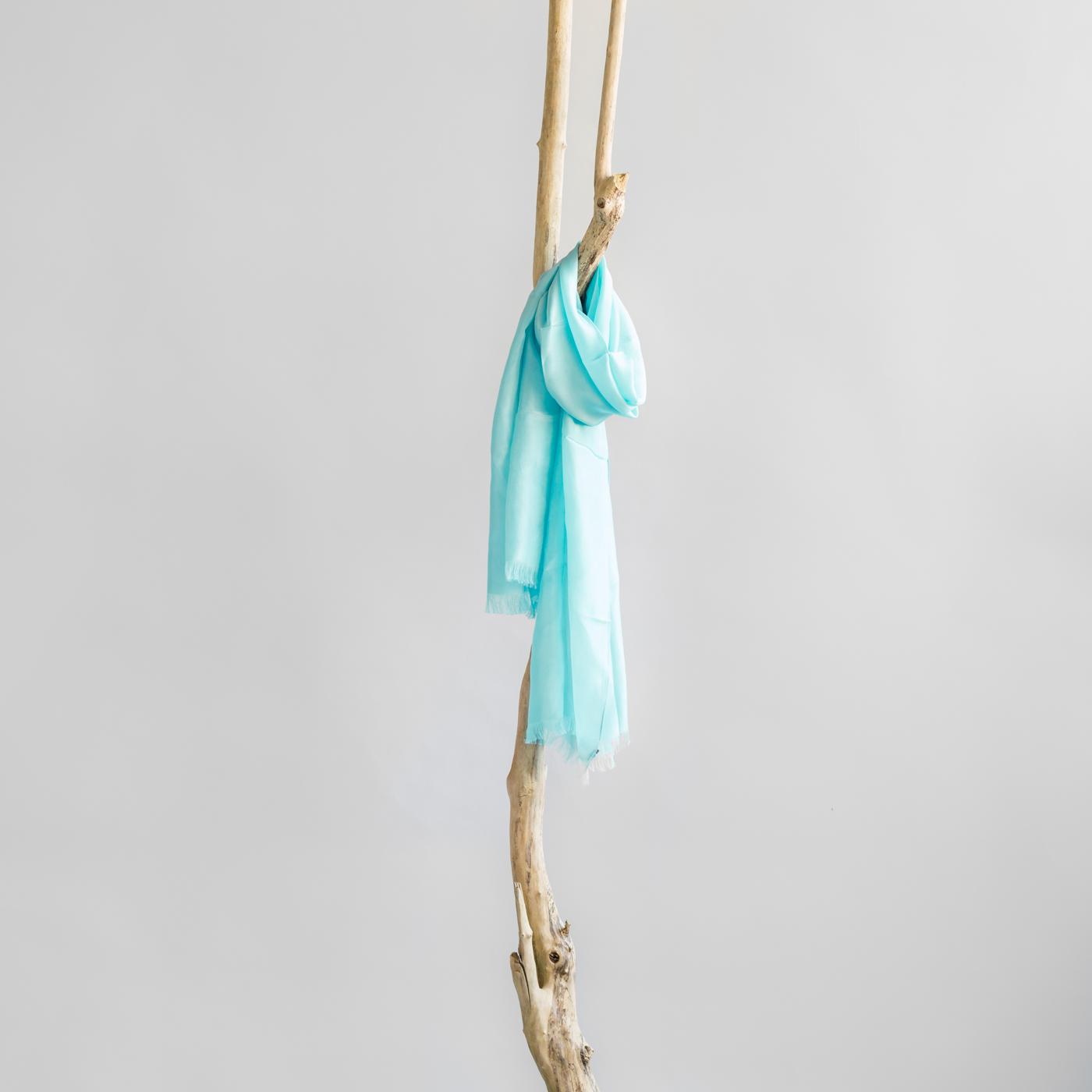 Zijden sjaal mint