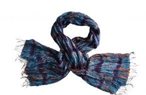 Zijden sjaal tie-dye blues