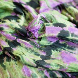 Zijden sjaal tie-dye green stuff