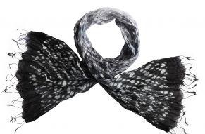 Zijden sjaal tie-dye blackish