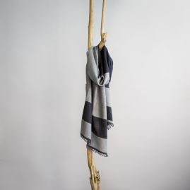 Wollen sjaal Bachi onyx
