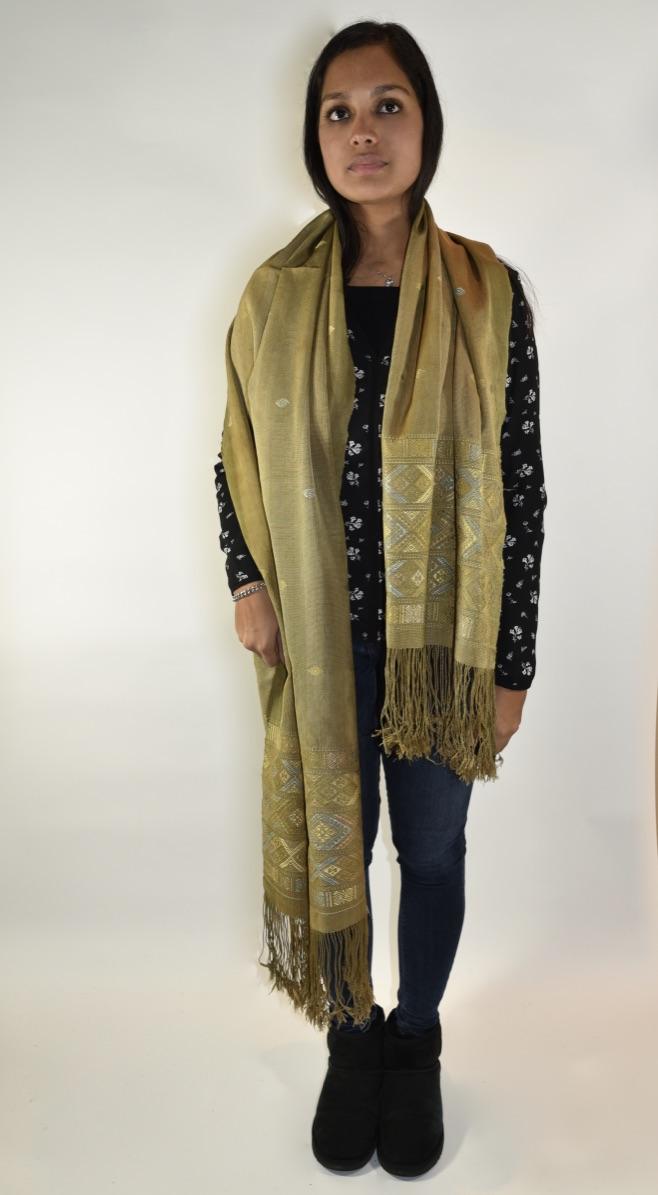 Zijden sjaal natural Thimpu