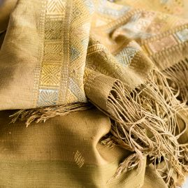 Silk scarf natural Thimpu