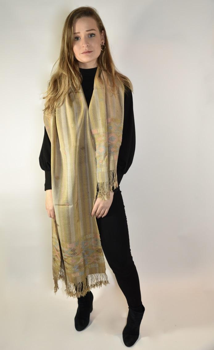 Zijden sjaal natural Numo