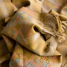Silk scarf natural Numo