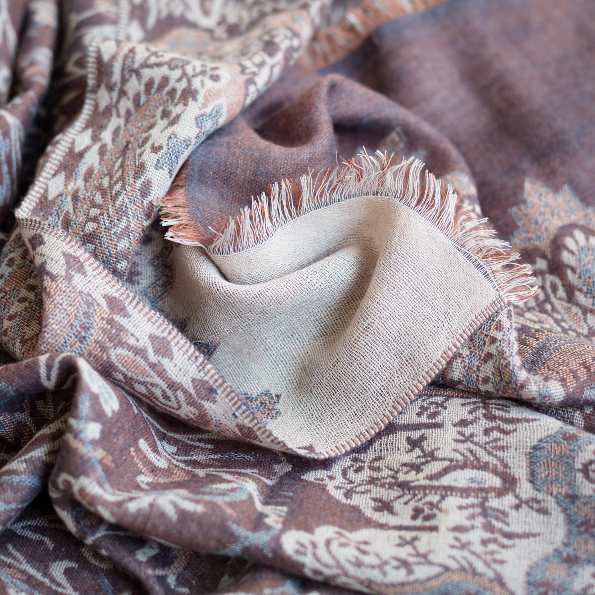 Cashmere sjaal jacquard