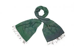 Cashmere sjaal paisley smaragd