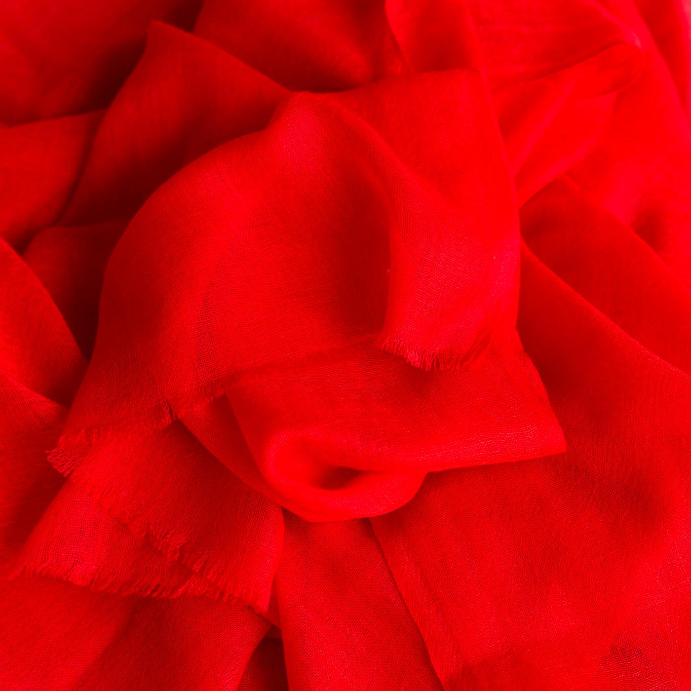 Cashmere stole poppy red