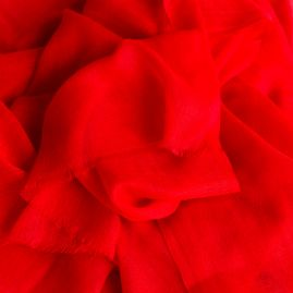 Cashmere sjaal poppy red