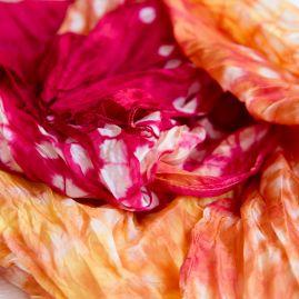 Silk scarf summer in the sky.