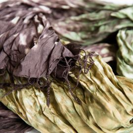 Silk scarf forest walk