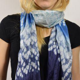 Silk scarf ocean mist