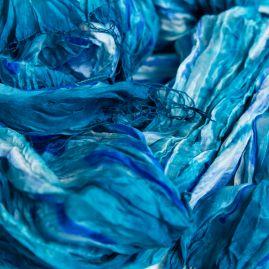 Zijden sjaal blue velvet