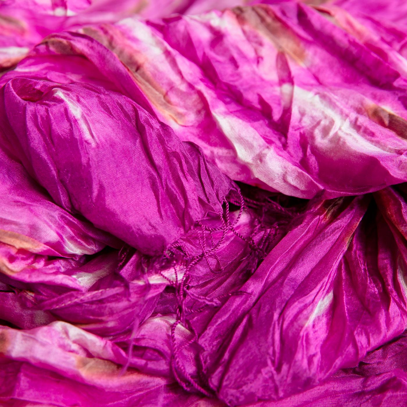 Silk scarf pink blossom