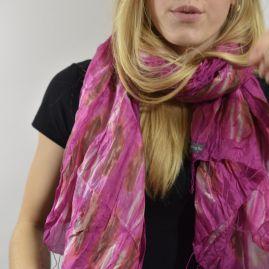 Zijden sjaal pink blossom