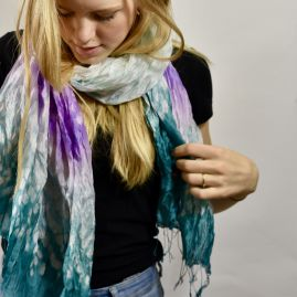 Silk scarf tie-dye narak