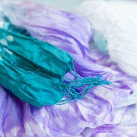 Zijden sjaal tie-dye narak