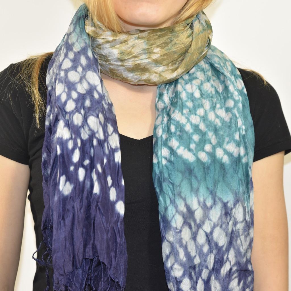 Silk scarf rainforest