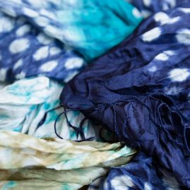 Silk scarf rainforest