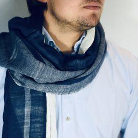 Katoenen sjaal Zinash navy