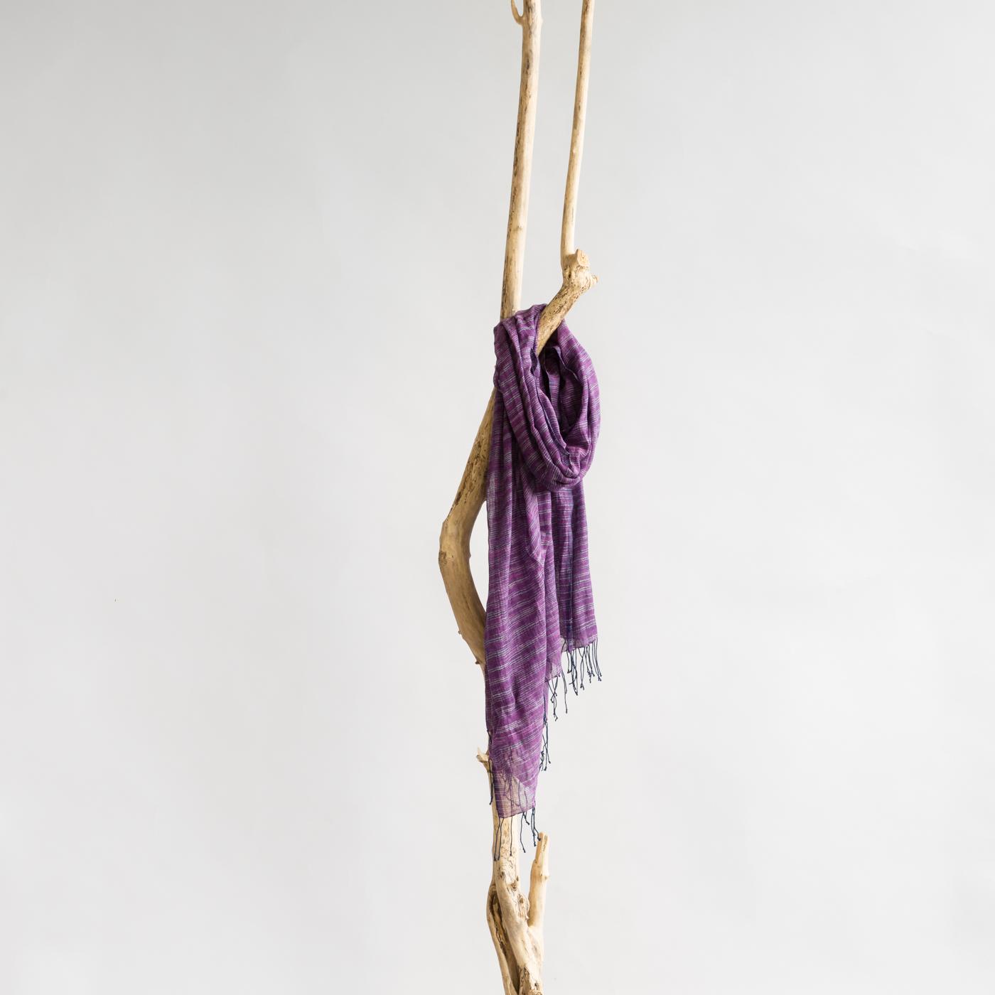 Cotton shawl Yeshi violet