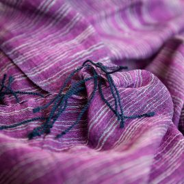 Cotton shawl Yeshi violet