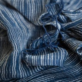 Cotton shawl Yeshi navy