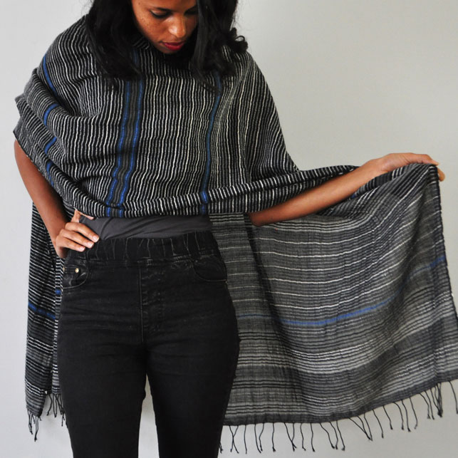 Katoenen sjaal Gabriella zebra