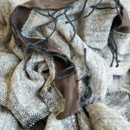 Silk shawl Stella grey