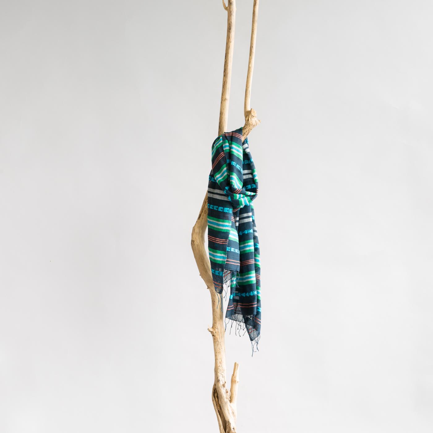 Katoenen sjaal Timket blue