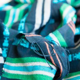 Cotton shawl Timket blue