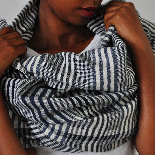 Katoenen sjaal Zinash zebra