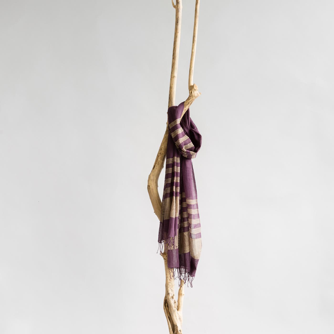 Katoenen sjaal Desta plum