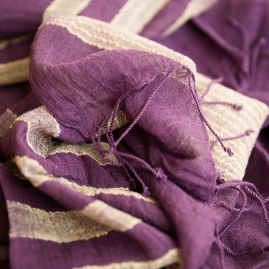 Cotton shawl Desta plum