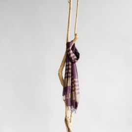 Cotton shawl Desta plum