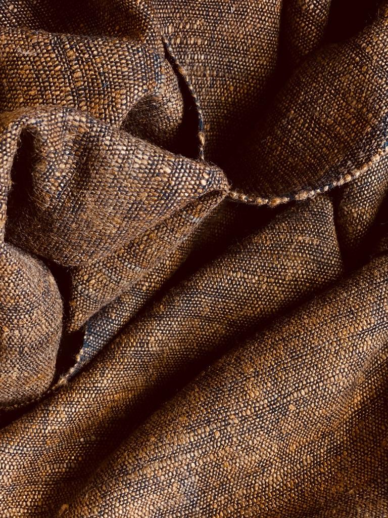 Sjaal van zijde/katoen mix tobacco