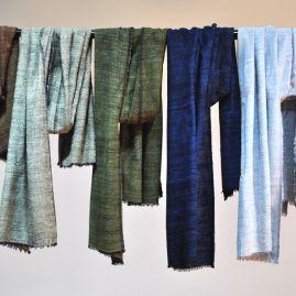 Sjaal van zijde/katoen mix mist