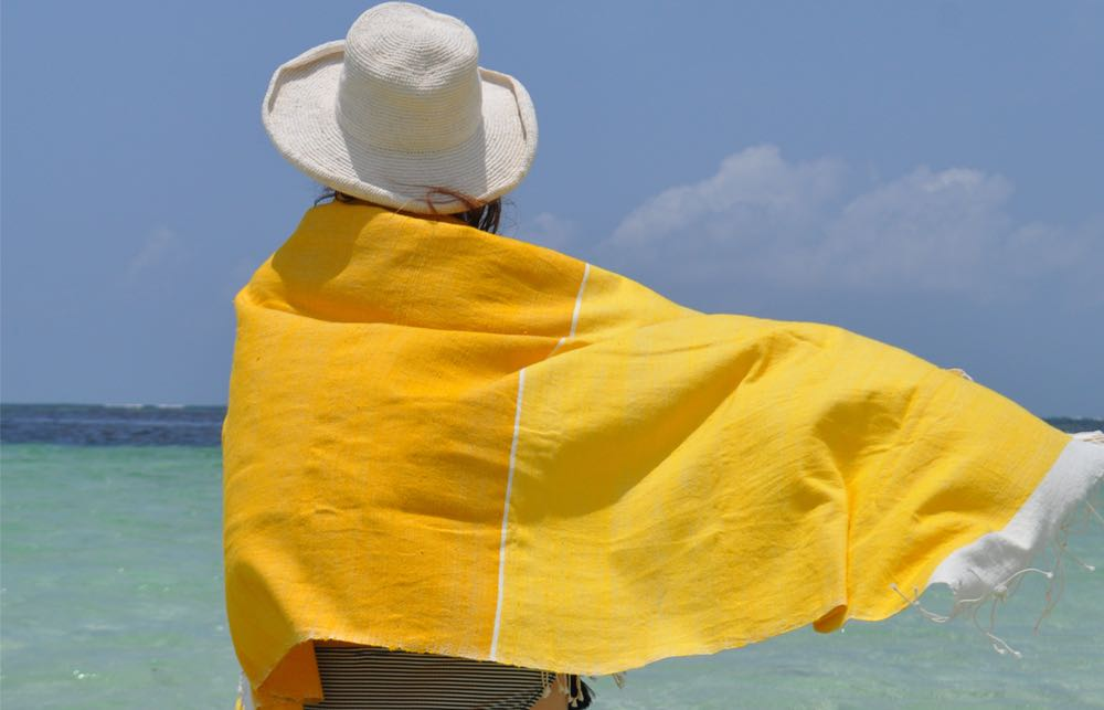 Beach towel Abay yellows